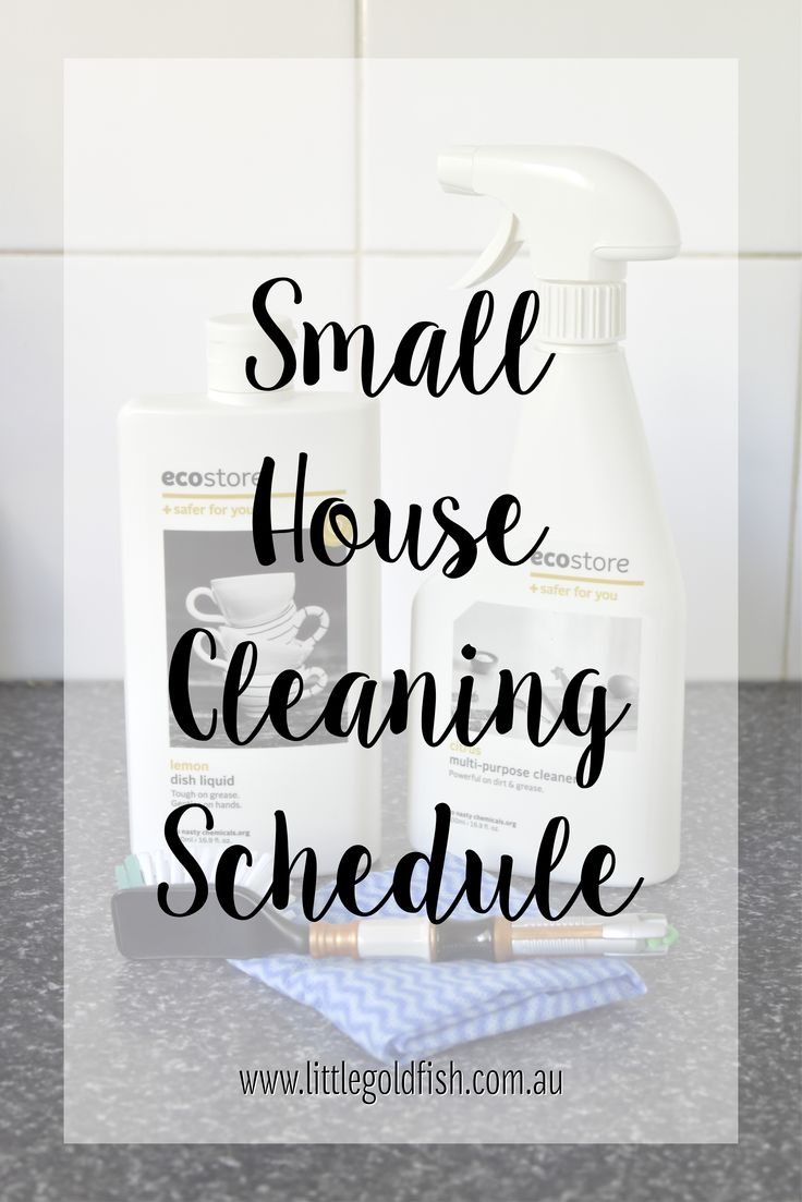 Small House Cleaning Schedule