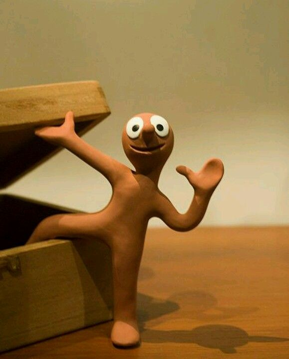 Morph, invented by Tony Hart - unbeatable! Beloved by my 80's children!
