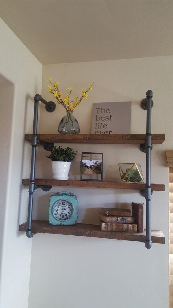 Best 25+ Industrial pipe shelves ideas on Pinterest ...
