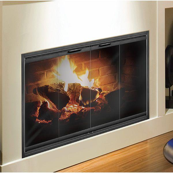Thin-Line Fireplace Glass Door for Masonry Fireplace | WoodlandDirect.com:  Fireplace Accessories - 17 Best Ideas About Fireplace Glass Doors On Pinterest Glass