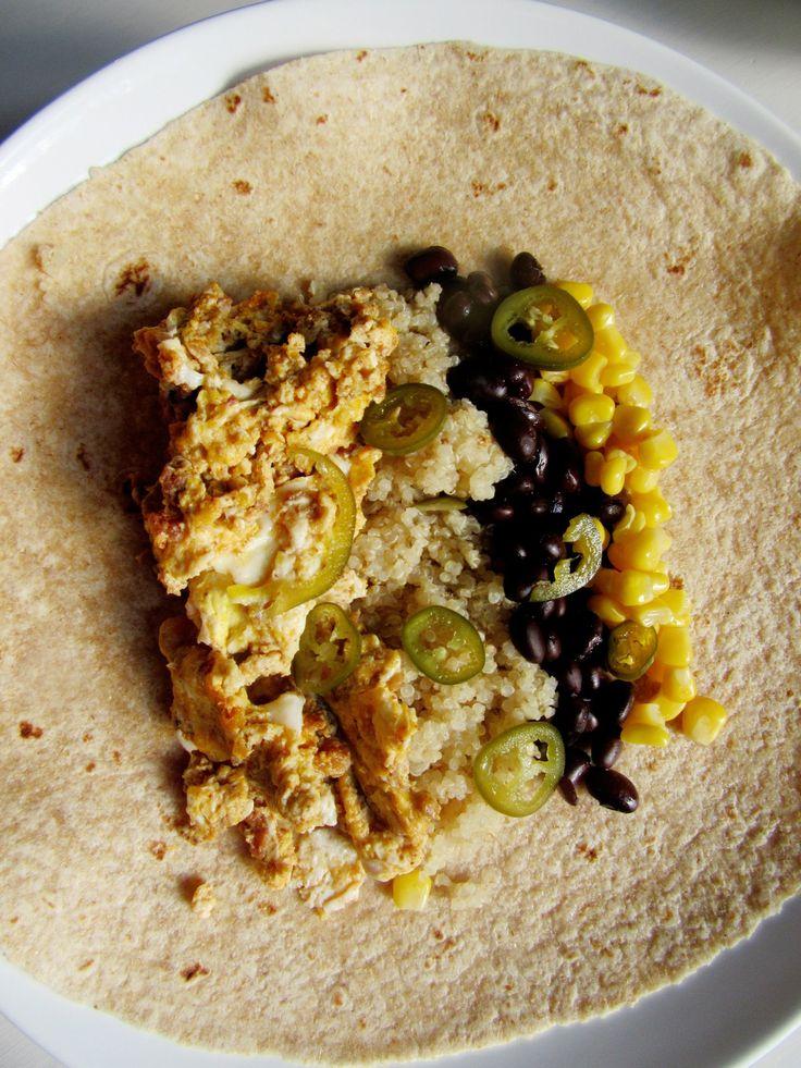 Easy Southwestern Freezer Breakfast Burritos with Quinoa || Biscuits and Burlap