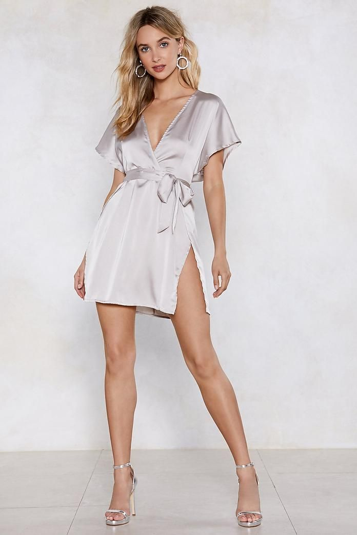 13056847fb7 Shop your faves at Nasty Gal today! Call in Slick Satin Dress