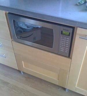 Countertop Microwave Ikea : Base cabinets, Cubbies and Ovens on Pinterest
