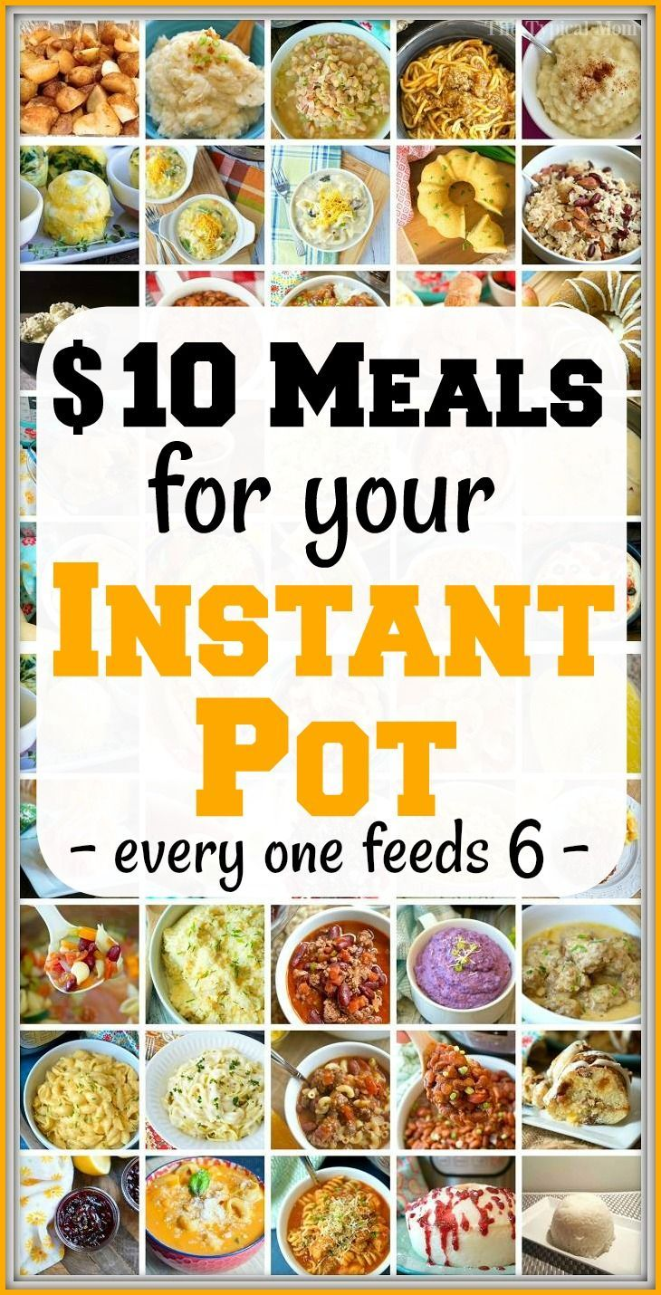 Cheap Instant Pot recipes under $10 each that you will love! From dinners to sid…