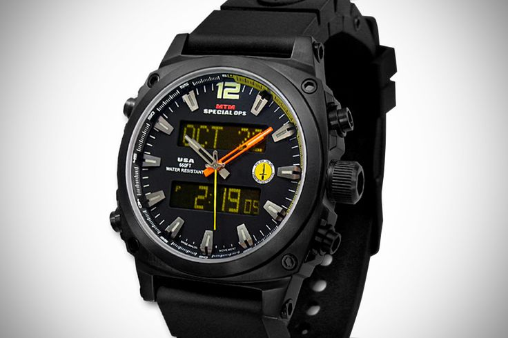 MTM Special Ops Black Air Stryk Military Watch