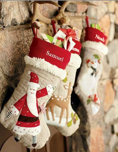 Handmade Christmas Stockings. http://www.hobbycraft.co.uk/christmas #christmas #stocking #handmadechristmas