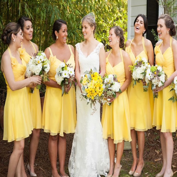 Yellow Beautiful Cap Sleeve Short Simple Knee Length Wedding Party Dresses, Cheap Homecoming Graduation Occasion Dresses,PB1003