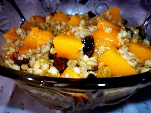Peachy Barley Salad :http://sweetlyradiant.com/peachy-barley-salad/