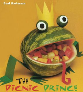 Make a Watermelon Frog Prince Filled with Fruit