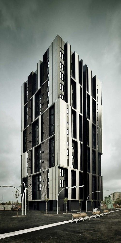 social housing tower, barcelona by roldán + berengué - *almost a modern gothic mood