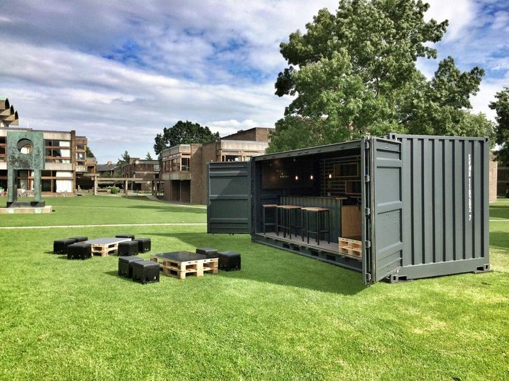 this transportable shipping container bar was manufactured. Black Bedroom Furniture Sets. Home Design Ideas