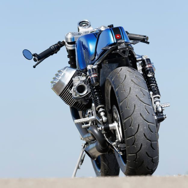 Wow, what a mean looking Guzzi. The Real Deal: Radical Guzzi's 130-horsepower cafe racer