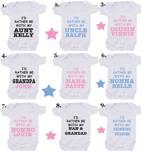 I'd rather be with my Nana add name 1 X bodysuit or 1 x T-shirt or 2 x bibs or DESIGN YOUR OWN on Etsy, £6.99