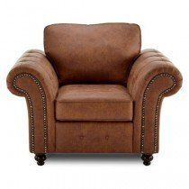 Barnacre 1 Seater Brown Faux Leather sofa