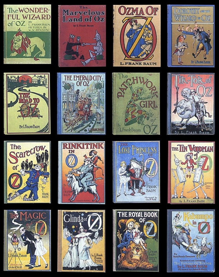 Oz Books by L. Frank Baum - An awesome series, I've read these over & over.  Funny enough, the first book is actually the most dull!   This needs to go on my want list too, but I want the old ones!