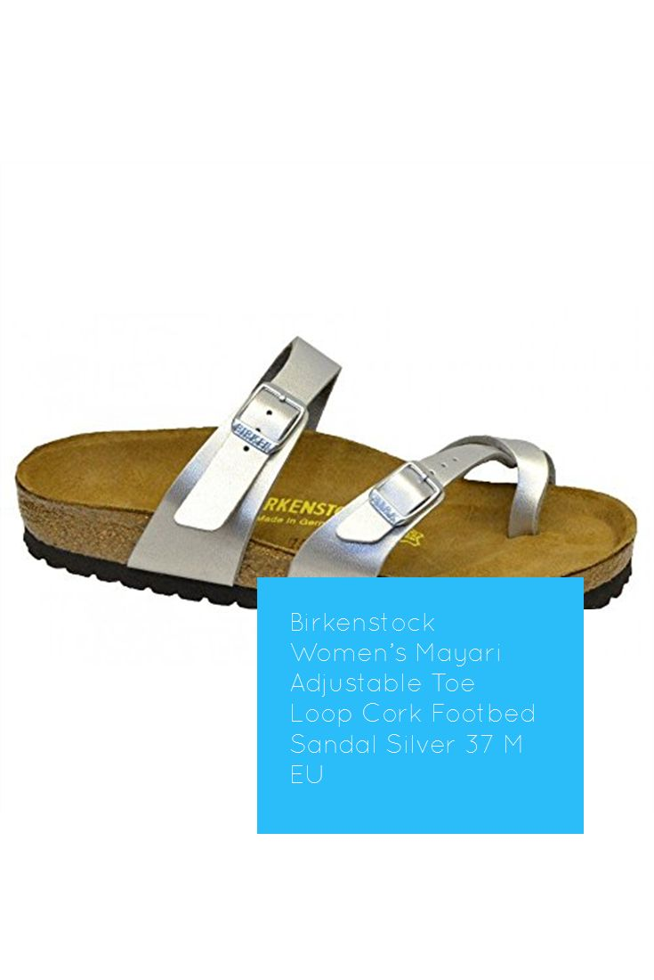 7d15706d6b1b Birkenstock Women s Mayari Adjustable Toe Loop Cork Footbed Sandal Silver  37 M EU  hot