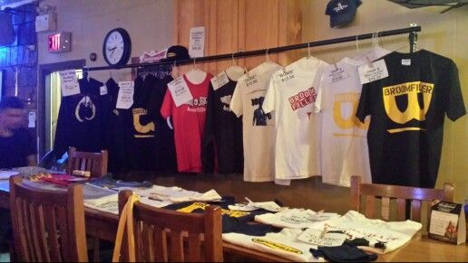 Merchandise set up at The New American