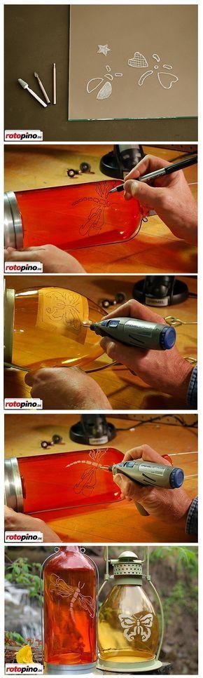 #Blumenvase #Kerzenleuchter #Flasche #Multifunktionswerkzeug #Dremel #7700 #DIY #doityourself #handmade