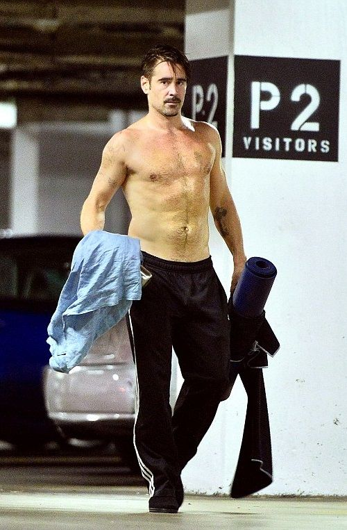 Colin Farrell Leaving a Workout Class in West Hollywood