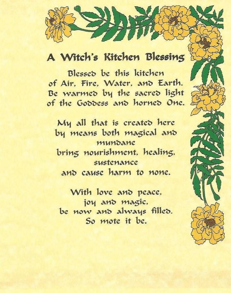 Kitchen Witchery:  A #Witch's #Kitchen #Blessing.