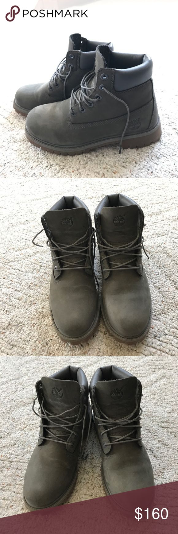 Gray Timberlands Gray Woman's Timberline boots. Worn once in perfect condition Timberland Shoes Lace Up Boots