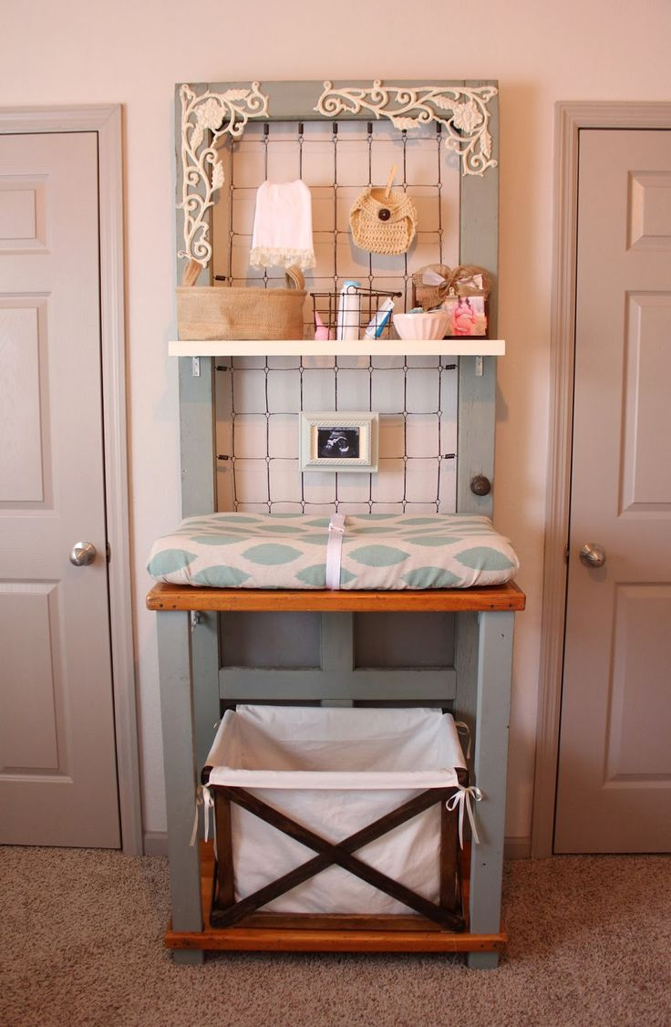 Cute nursery changing table/station, hamper & other necessities - sweet abode
