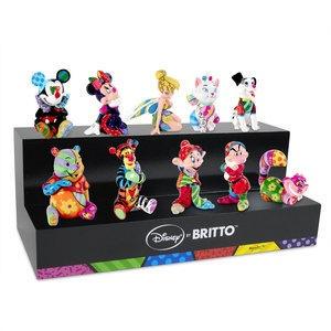 Romero Britto Complete Set of 10 Authentic Disney Britto Mini's Plus Display