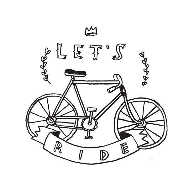 "TATTLY tijdelijke tattoo ""let's ride"" by mike lowery. $5 per set van 2 (betalen met paypal)"