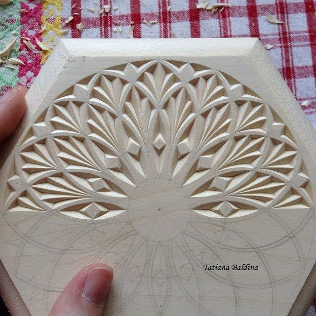 Chip carving (design by Tatiana Baldina) https://instagram.com/tatbalcarvings/