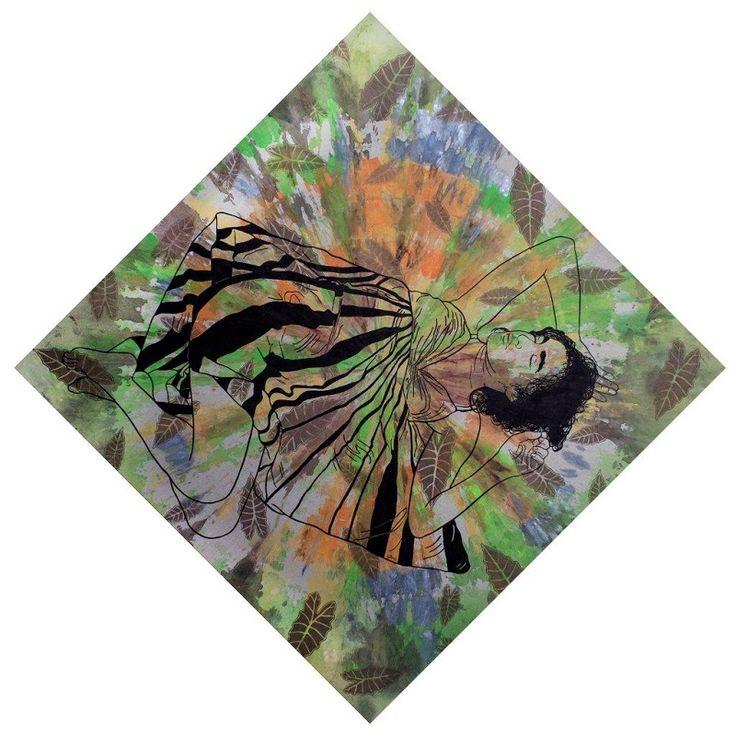 ST Serie En el jardín de las flores vivas 1 150 cm x 150 cm Acrílico-Lienzo 2015 3500€  #arte #art #cuban #Lisandra Isabel Garcia