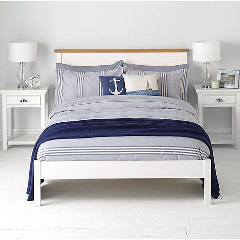 Buy John Lewis Variegated Stripe Duvet Cover and Pillowcase Set, Dark Nordic Blue Online at johnlewis.com