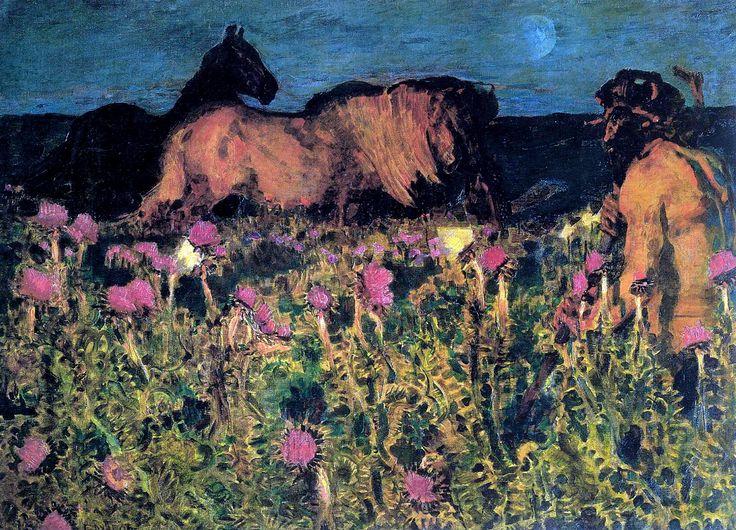 К ночи - Врубель, Михаил Александрович, картина в высоком разрешении