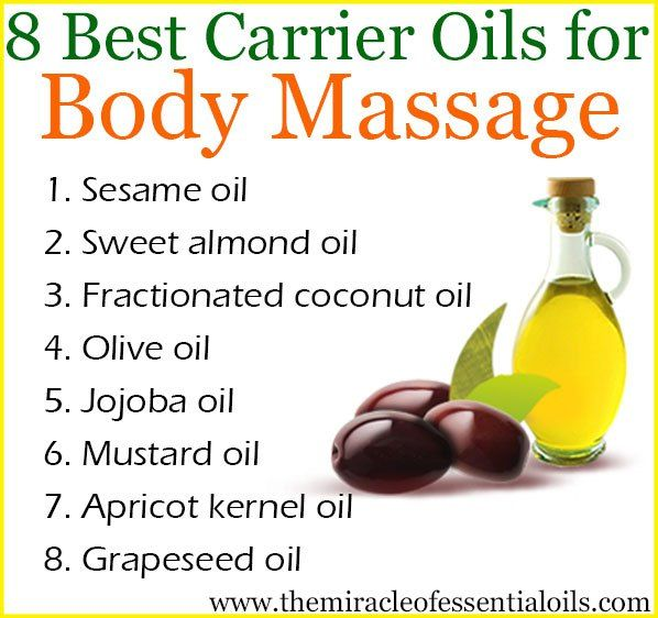 8 Carrier Oils for Body Massage + DIY Massage Oil Recipe