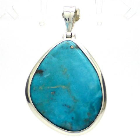 Turquoise Mexican Pendant with Gold Pyrites| 925 Silver | Gold Pyrites Inclusions | Sagittarius Scorpio Pisces | Crystal Heart Melbourne since 1986