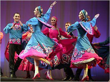 russian troupe's folk dance