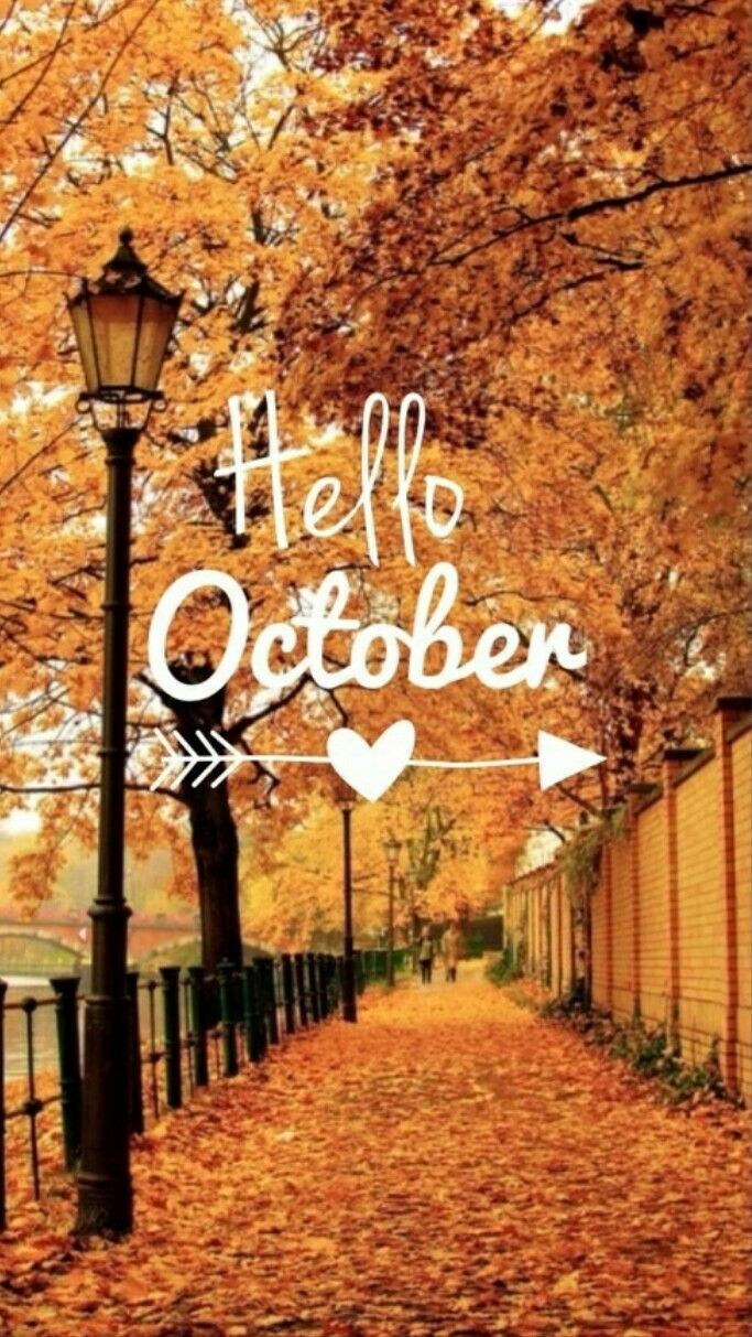 October | October wallpaper, Hello october images, Hello october