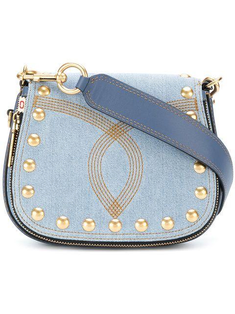 c2eb1e2da5ee MARC JACOBS Nomad small denim saddle bag.  marcjacobs  bags  shoulder bags   leather  denim  cotton