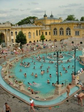 Széchenyi Bath - Budapest Baths - Thermal bath Budapest - Spa Budapest.  One of the highlights of any trip to Budapest.  Sounds weird, but it's really great!