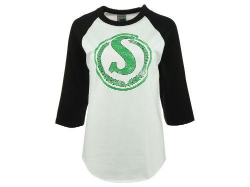 Saskatchewan Roughriders Canadian Graphics West CFL Women's 3/4 Sleeve Raglan T-Shirt from Jersey City