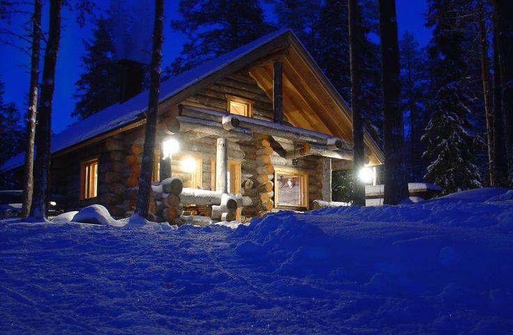 The Cabin Nr 2 of Hirvipirtit Lapland Cabins, Taivalkoski, Kuusamo Lapland, Finland www.hirvipirtit.fi, info@hirvipirtit.fi, +358(0)40 8658471
