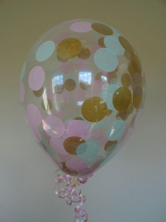3 6 o 10 cuenta: GRANDE 17 confeti globos con luz color