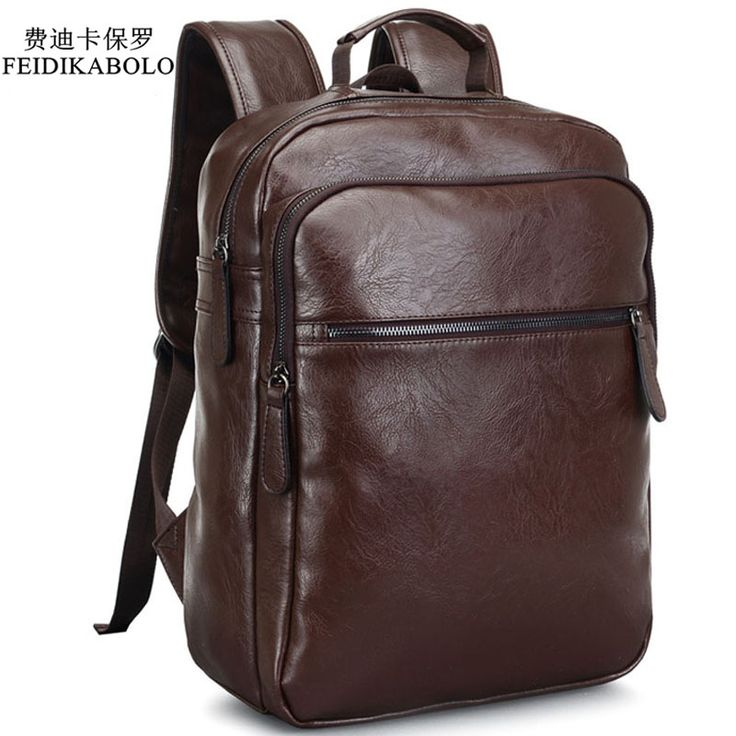 ==> [Free Shipping] Buy Best 2017 Men Leather Backpack High Quality Youth Travel Rucksack School Book Bag Male Laptop Business bagpack mochila Shoulder Bag Online with LOWEST Price | 32777455491