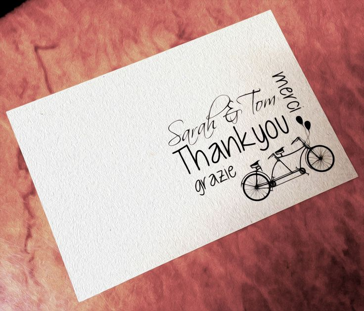 Cute vintage inspired 'Thankyou' card! Love using different languages to communicate special events!