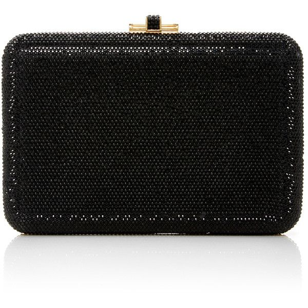 Judith Leiber Couture     Embellished Rectangle Clutch found on Polyvore featuring bags, handbags, clutches, black, beaded purse, embellished handbags, judith leiber, embellished purses and judith leiber purses
