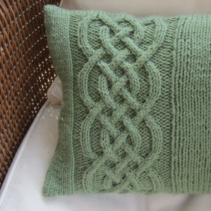 Knitting Pillow Pattern : Best images about cable knit pillow on pinterest