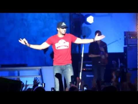 "Luke Bryan shows ""the move"" oh mercy!! And someone yells ""I'll take you home any day"" hahaha"