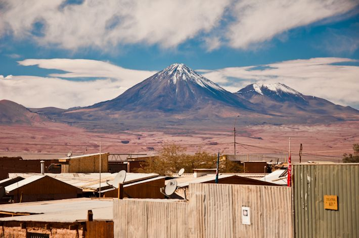 The Licancabur #Volcano in the Atacama #desert in #chile    As seen from San Pedro de Atacama    Follow our travels on http://bkpk.me :)