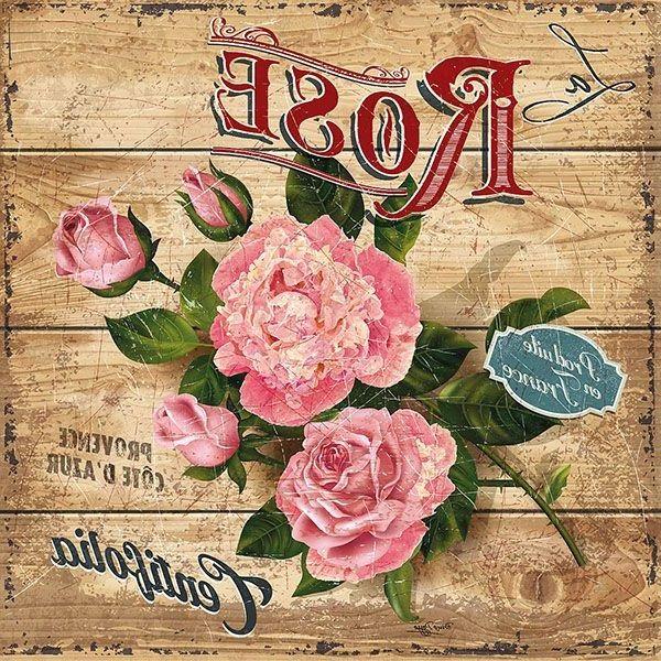 Rosas sobre madera