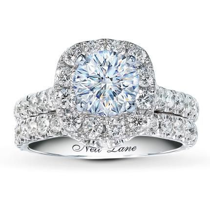 The dream ring! NEIL LANE WEDDING SETTING 1 1/2 CT TW DIAMONDS 14K WHITE GOLD Item #: 56197620099
