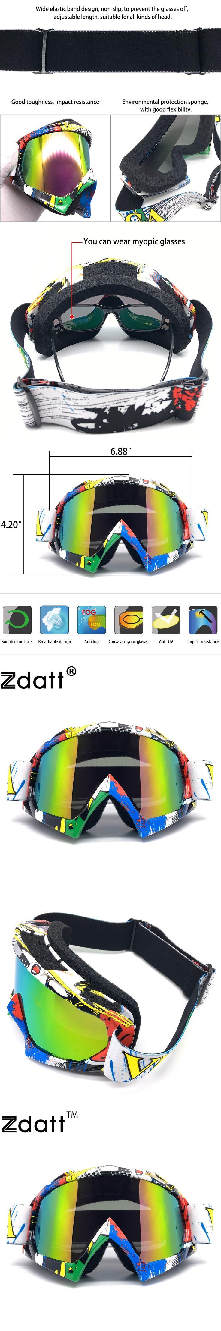 Zdatt 1Pcs Motocross Motorcycle Goggles Moto Glasses Fox Racing Ski Goggles Windproof Mx Goggles Antiparras 03